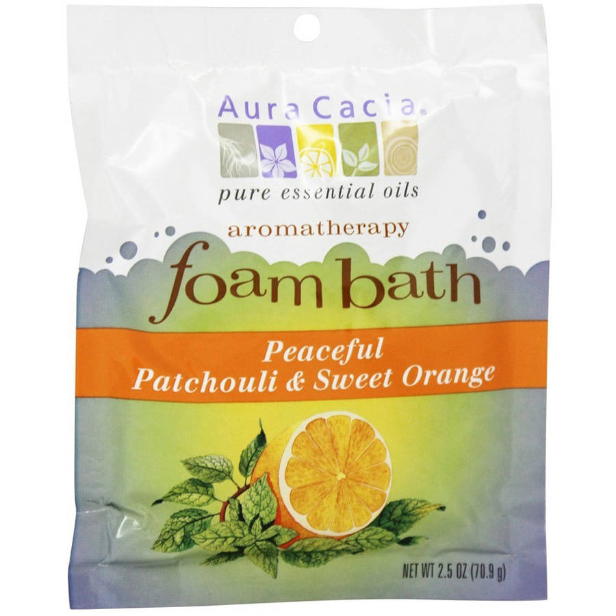 Aura Cacia Bath Foam Patchouli Orange, 2.5 OZ (Pack of 6)
