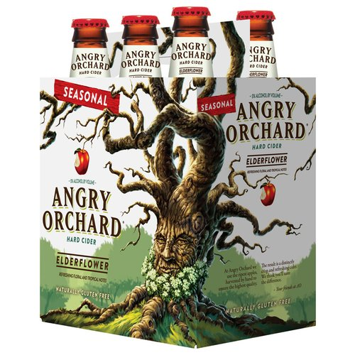 Angry Orchard Seasonal Elderflower Hard Cider, 6 pack, 12 fl oz
