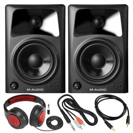 m audio av42 compact studio monitor speakers for professional media creation pair with samson. Black Bedroom Furniture Sets. Home Design Ideas