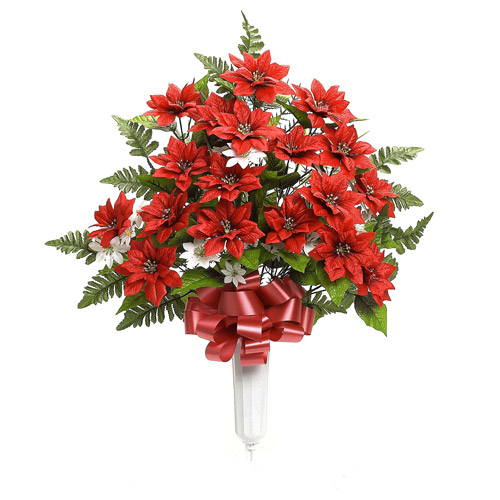 "30"" Poinsettia Floral Arrangement, Red"