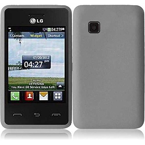 Silicone Skin Case for LG 840G - Smoke