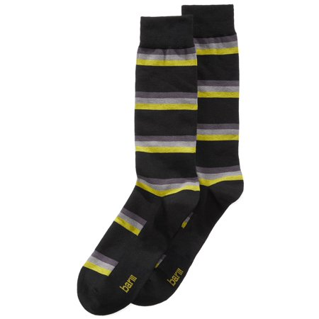 - Bar III Mens Printed Seamless Toe Crew Socks (Black Tonal Stripe, Shoe 7-12/ Sock 10-13)