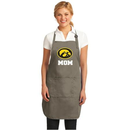 Iowa Hawkeyes Mom Apron University of Iowa Mom APRONS w/ Pockets & Adjustable -