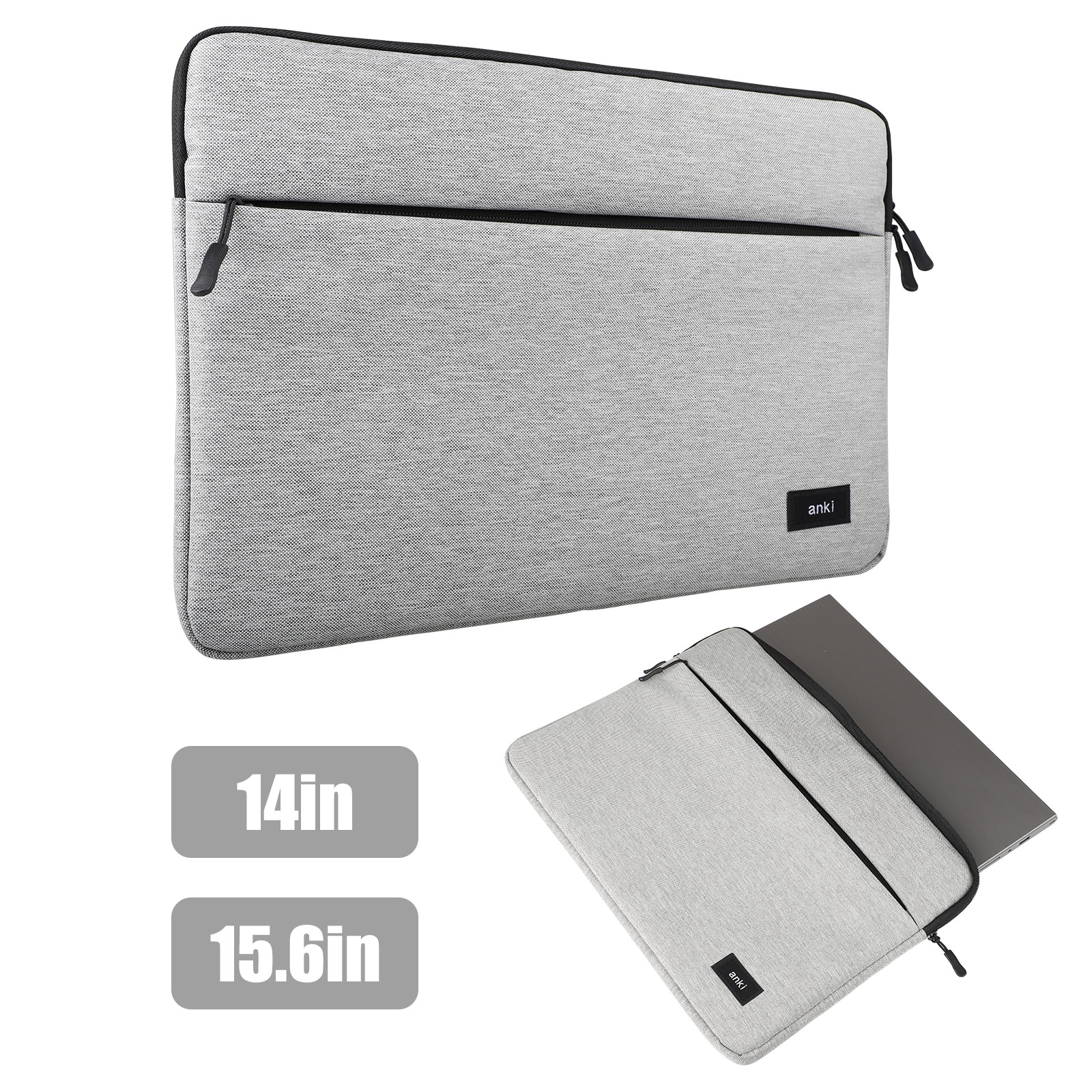 "TSV Laptop Sleeve Case Protective Bag, Ultrabook Notebook Carrying Case Handbag for 14"" 15"" Samsung Sony ASUS Acer Lenovo Dell HP Toshiba Chromebook Computers -Light Grey"