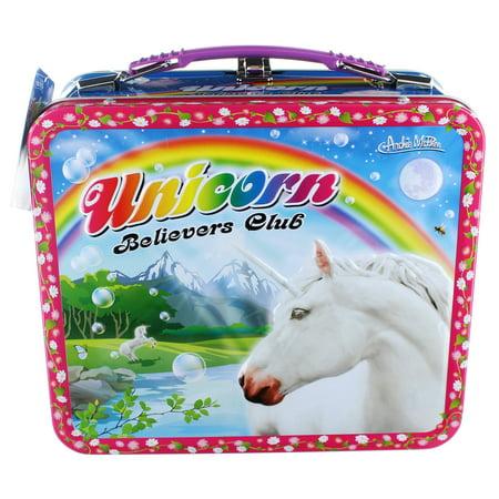 Unicorn Metal Lunchbox with - Metal Lunchbox