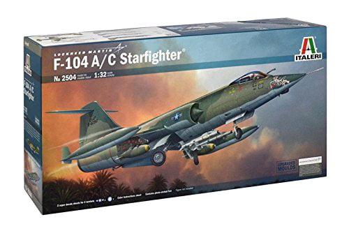 Italeri Models F-104 A/C Star fighter Airplane Model Building Kits Multi-Colored