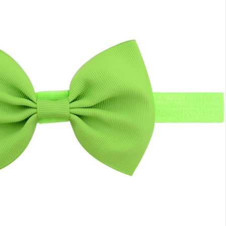 Children's Bow Beautiful Hair Band Solid Color Ribbed Ribbon Hair Accessory - image 2 of 6