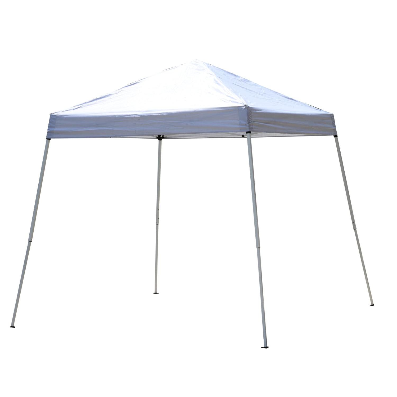 Outsunny 8' x 8' Slant Leg Pop Up Canopy Tent - White