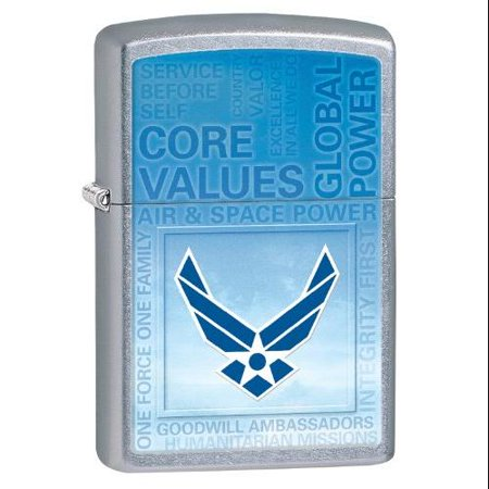 Zippo United States Air Force Lighter  Street Chrome Matte