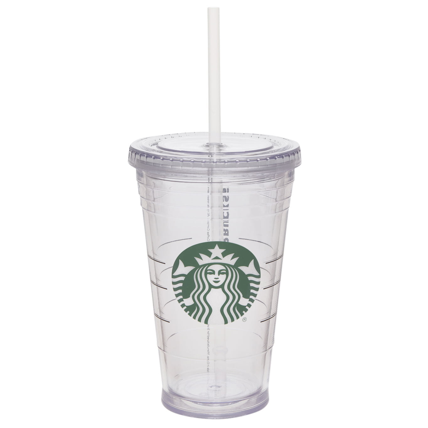 Starbucks 16oz Tumbler With Straw Clear