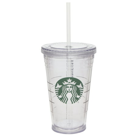 Starbucks 16 Ounce Clear Tumbler with Straw