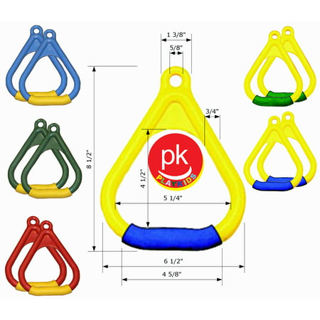 Playkids Wooden Swing Set 2  1 Pair  Trapeze Hand Grip Or Trapeze Bar Ring With Soft Handle Hardware Porch For Play Set Jungle Gym  Playground In Backyard
