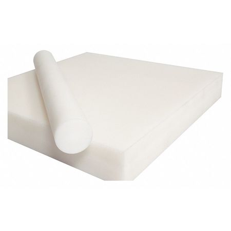 7//8  White Natural Delrin Acetal Plastic Rod Price per Foot Cut to Size!