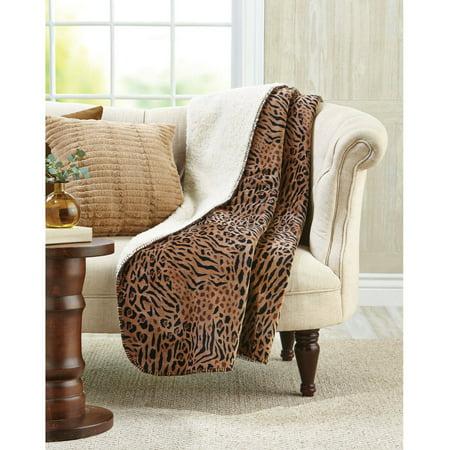 Upc 801418116204 Better Homes And Gardens Sherpa Fleece Brown Cheetah Velvet Plush Throw 50 X