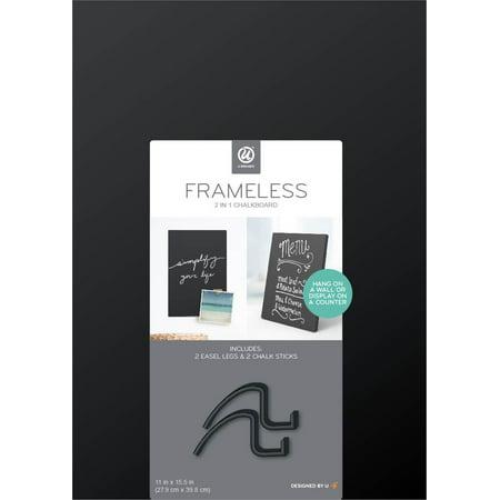U Brands Chalkboard Easel, 11 x 15.5 Inches, Frameless (Chalkboard Easel Sign)