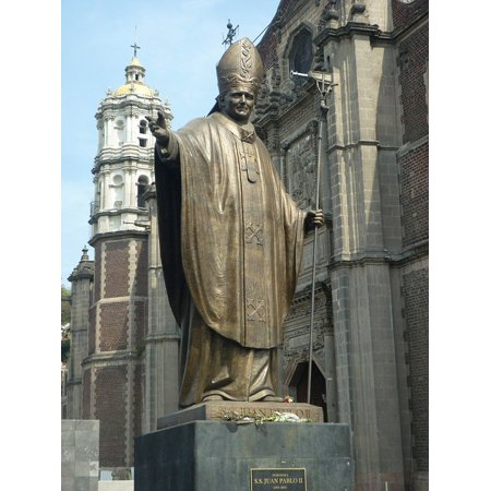 LAMINATED POSTER Mexico Pope Statue Religion John Paul Ii Catholic Poster Print 24 x 36