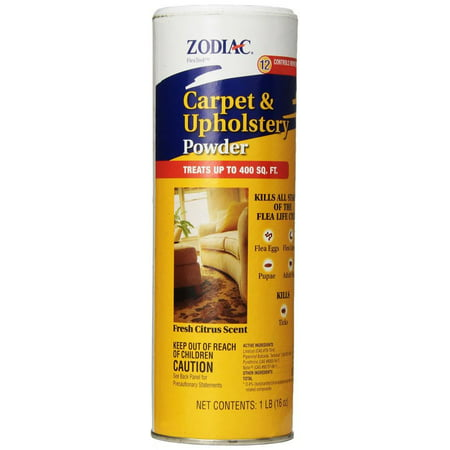Zodiac Flea Control Carpet & Upholstery Powder 16 (Hartz Flea And Tick Carpet Powder Directions)