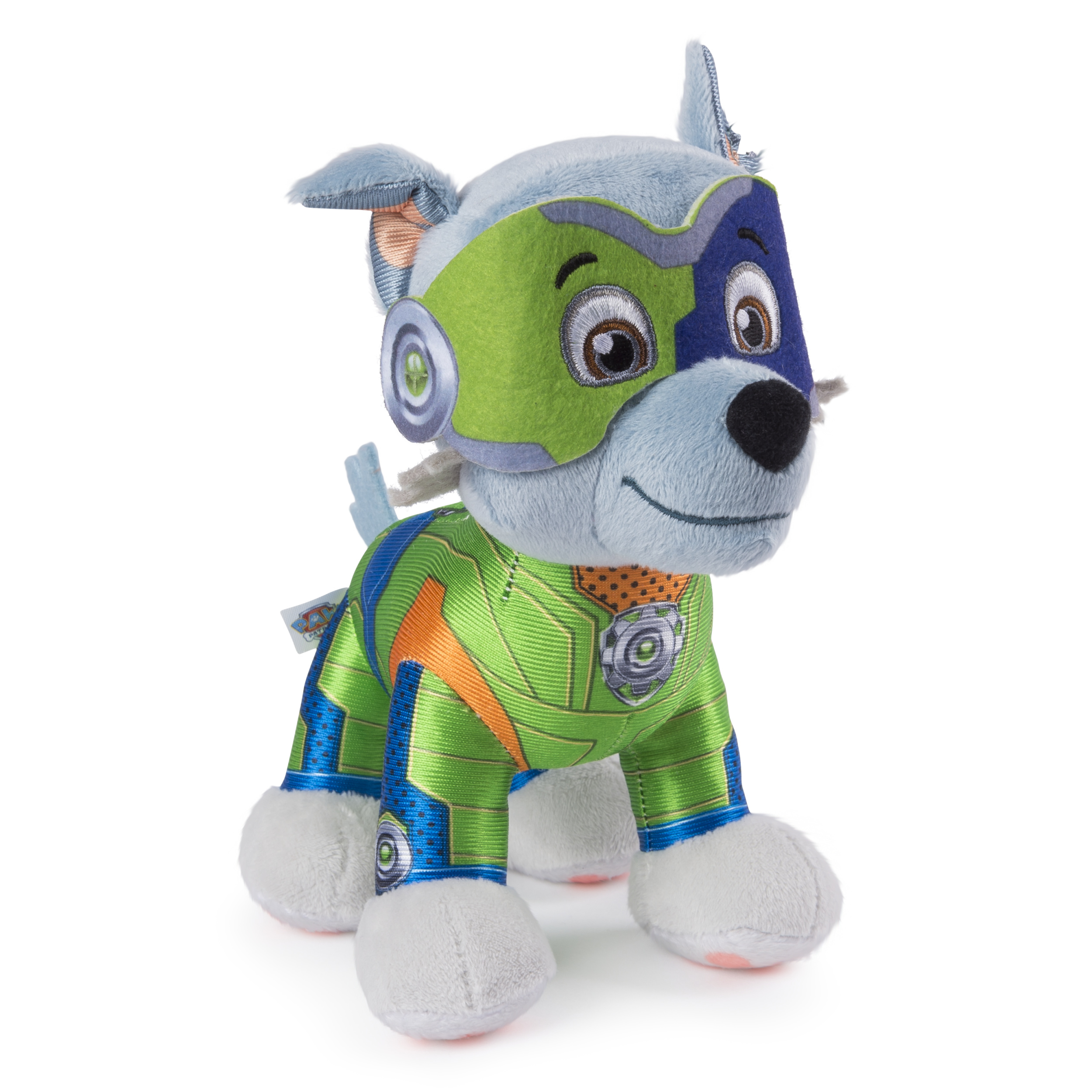 Paw Patrol 8 Mighty Pups Rocky Plush For Ages 3 And Up Wal Mart