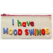 Pencil Case - Blue Q - I Have Mood Swings Stationery Pouch Bag QA742