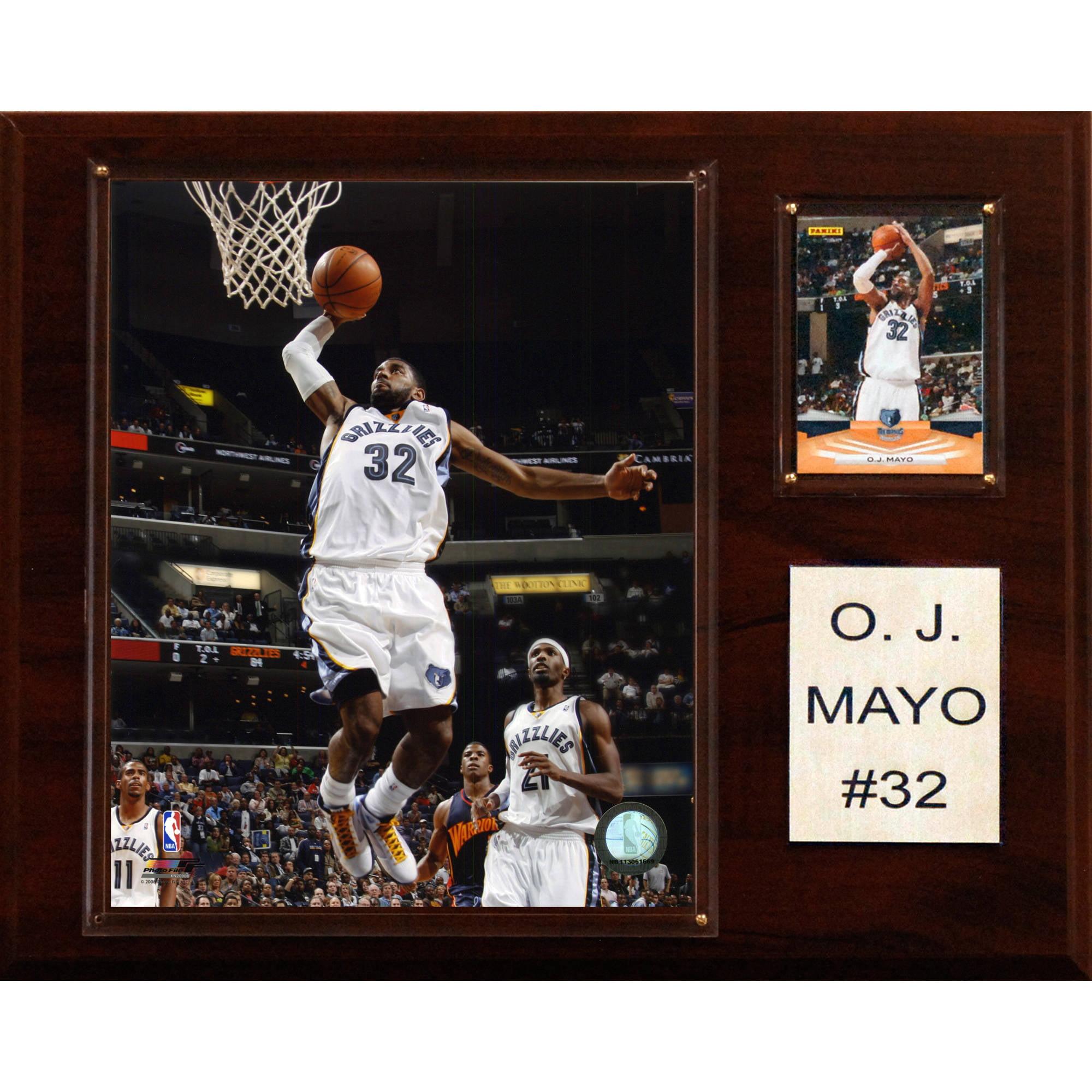 C&I Collectables NBA 12x15 O.J. Mayo Memphis Grizzlies Player Plaque