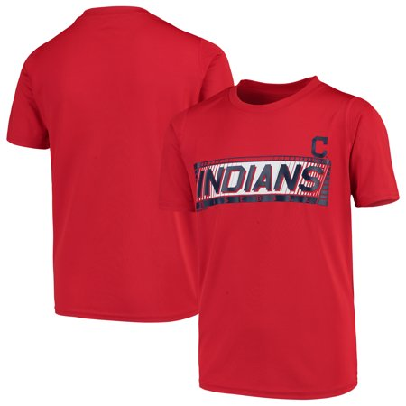 bc35009e Cleveland Indians Youth Switch Hitter Dri-Tek T-Shirt - Red