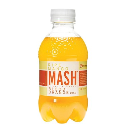 MASH 20 oz Plastic Bottle Ripe Mango + Blood Orange, 12 - Blood Orange Vodka Halloween Drinks