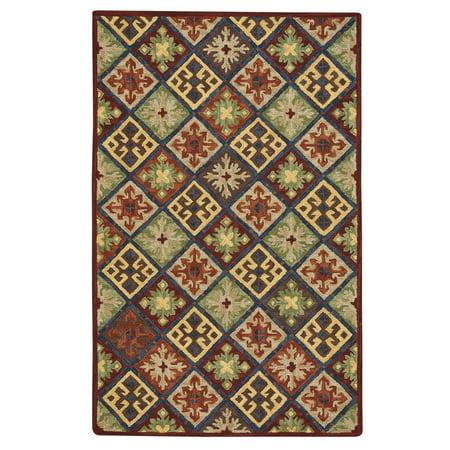 Capel - Shakta Quilt - Hand Tufted Rectangle Rug - Multitone - 9' x 12'