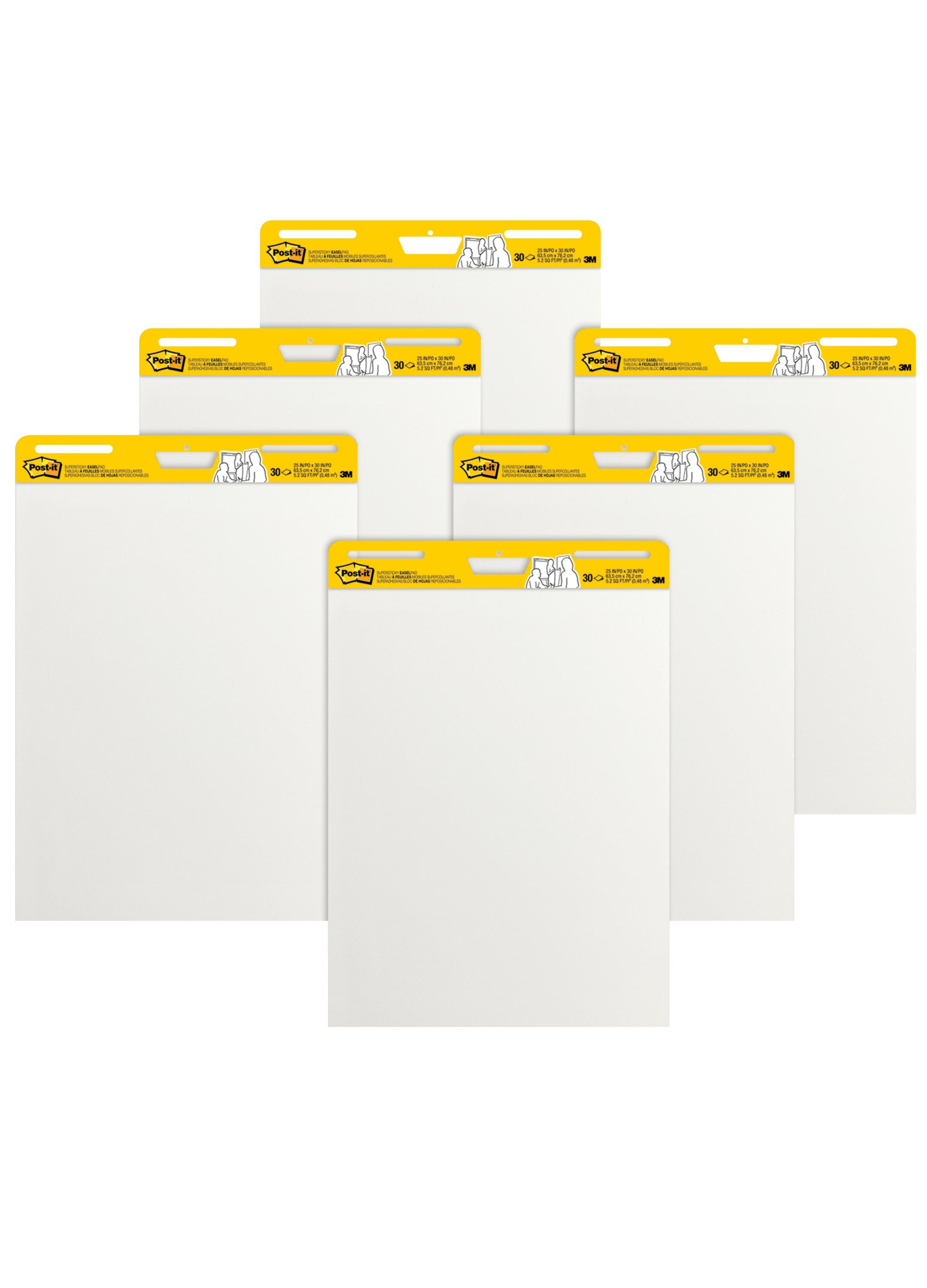 8 Pack of Premium Self Stick Flip Chart Paper Giant Wall Post Notes Class Captain Sticky Easel Pad 25x30 Inches 25 Sheets//Pad White Large Chart Paper for Teachers Meeting Presentation Paper Pad