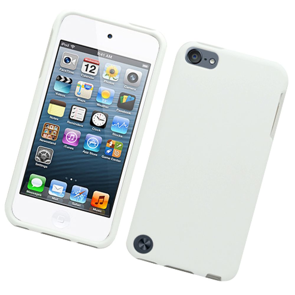 Insten Hard Rubber Coated Case For Apple iPod Touch 5th Gen - White - image 3 of 3