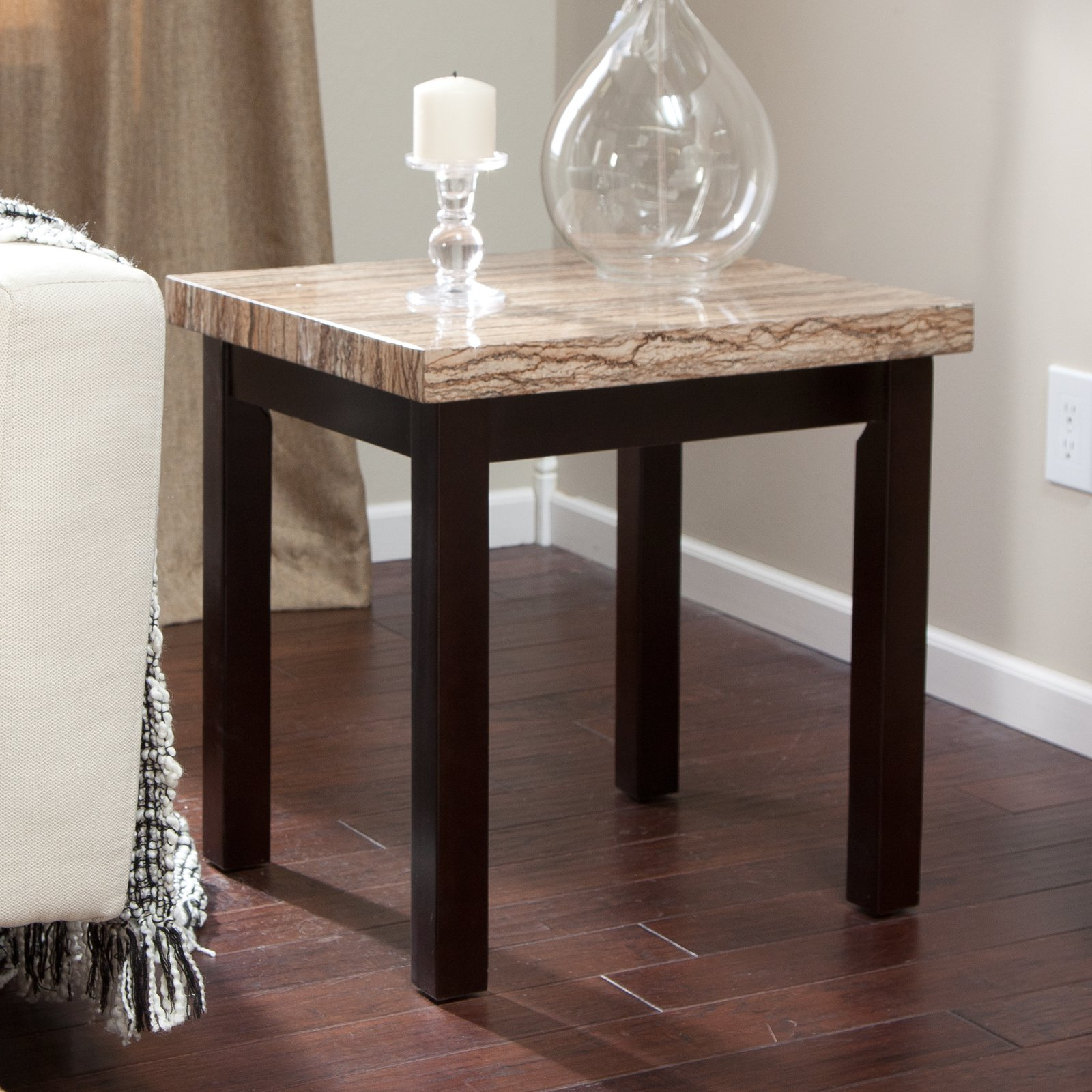 Carmine Faux Marble End Table - Walmart.com