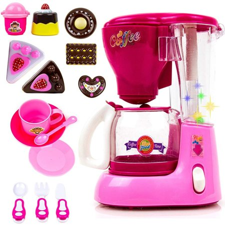 Toysery Coffee Maker Blender Mini Appliances Kitchen Toy Set - Realistic  Coffee Maker Toy Flashing Lights Music - Kids Home & Kitchen Playset  Pretend ...
