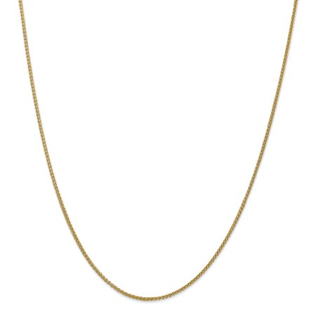 Roy Rose Jewelry 14K Yellow Gold Semi-solid Wheat Chain Necklace ~ Length 24'' inches