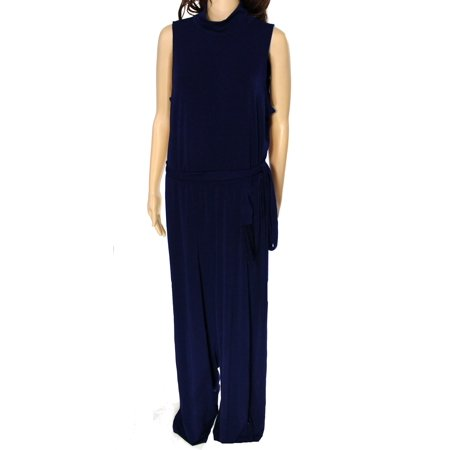 Lauren Ralph Lauren NEW Blue Navy Womens Size XL Turtleneck Jumpsuit