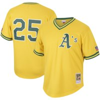 Mark McGwire Oakland Athletics Mitchell & Ness Cooperstown Collection Mesh Batting Practice Jersey - Gold