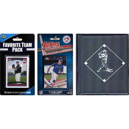 Sports Prayer Card - C & I Collectables MLB Toronto Blue Jays Licensed 2017 Topps Team Set and Favorite Player Trading Cards Plus Storage Album