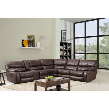 Gu Industries Leather Air Match Upholstered Reclining Sectional Sofa