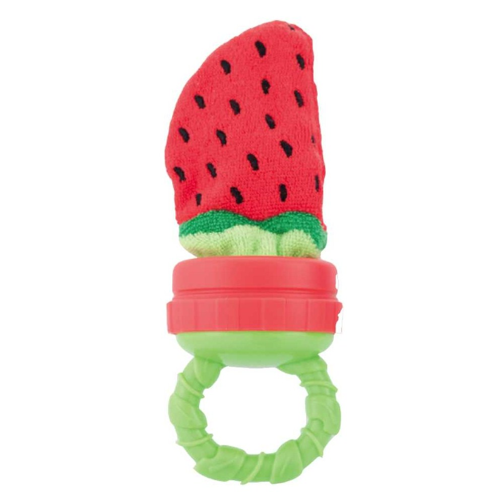 Strawberry Terry Teether with Handle