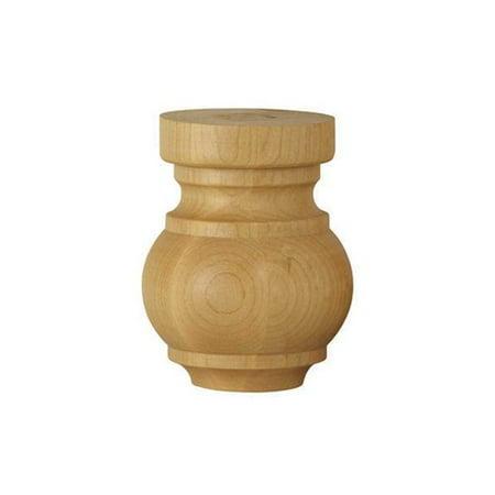 Brown Wood Craftsman Bun Foot Unfinished Hard Maple 01704210HM1 ()