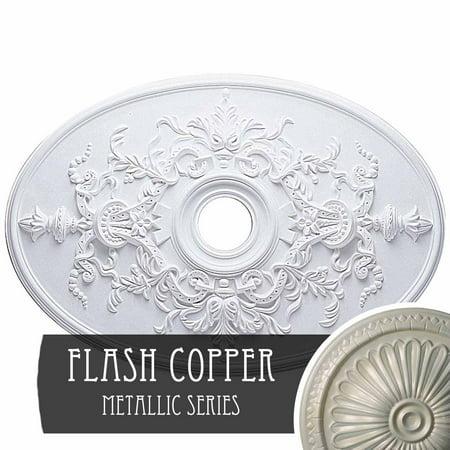 30 3 4 W x 21 14 H x 3 7 8 ID x 1 5 8 P Alexa Ceiling Medallion Fits