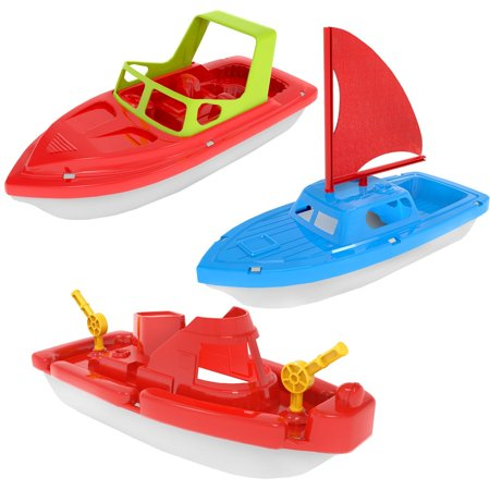 Children's Bath Pool Beach Toys Set Speed Boat, Sailing Boat, Aircraft Carrier, Fisher Toy Set for Swimming Pool, Beaches and Tubs F-124](Toy Boat Walmart)
