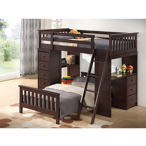 Broyhill Kids Marco Island Twin Loft & Full Bed Collection,  Espresso
