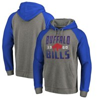 Buffalo Bills NFL Pro Line by Fanatics Branded Timeless Collection Antique Stack Tri-Blend Raglan Pullover Hoodie - Ash