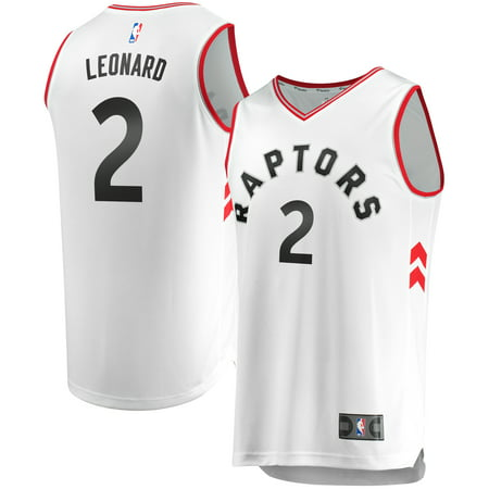 Kawhi Leonard Toronto Raptors Fanatics Branded Youth Fast Break Replica Jersey - Association Edition - White