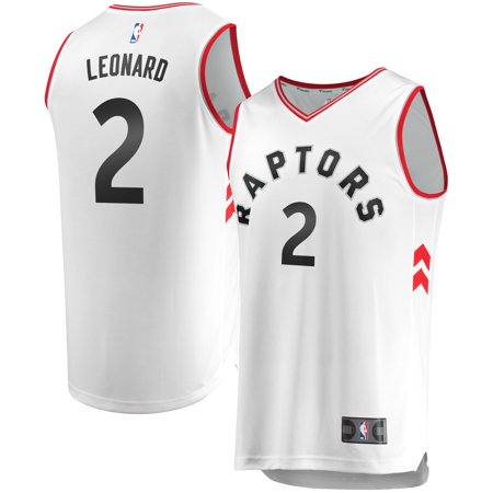 Kawhi Leonard Toronto Raptors Fanatics Branded Youth Fast Break Replica Jersey - Association Edition - White ()