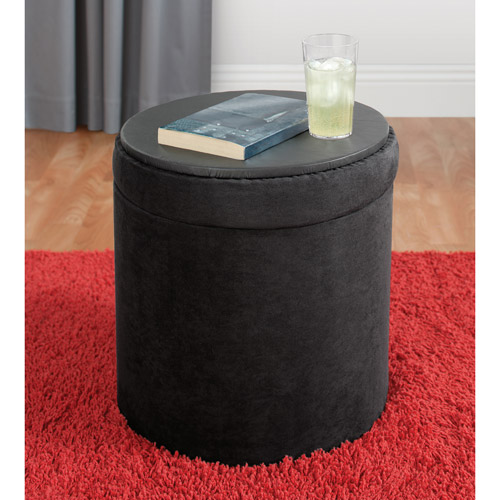... your zone round storage ottoman multiple colors & your zone round storage ottoman multiple colors - Walmart.com islam-shia.org