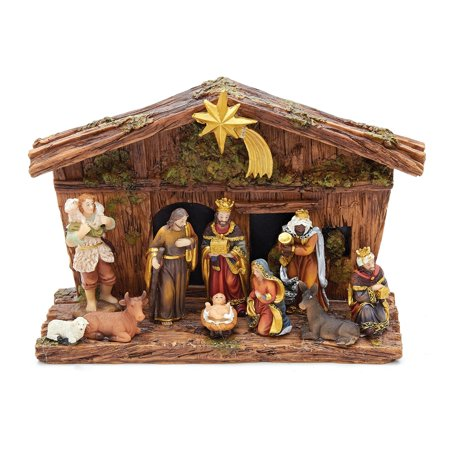 Kurt Adler 11-Piece Nativity Set - Child Nativity Set