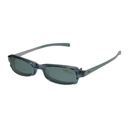 New Smartclip 906 Mens/Womens Cat Eye Full-Rim Blue / Pearl Durable Cat Eye Polarized Clip-on Lens Frame Demo Lenses 48-17-140 Sunglass Lens Clip-Ons Spring Hinges Eyeglasses/Eye (Sunglasses Clip Ons)