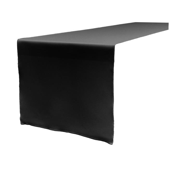 TCpop14x108-BlackP24 Polyester Poplin Table Runner, Black - 14 x 108 in. - image 1 de 1