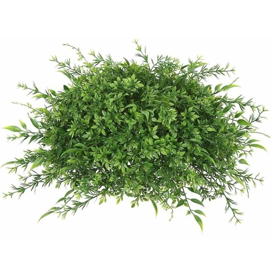 "Vickerman 18"" Artificial Green Mixed Greenery Half Ball"