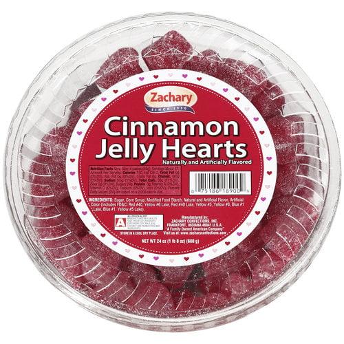 Zachary Cinnamon Jelly Hearts, 24 Oz.